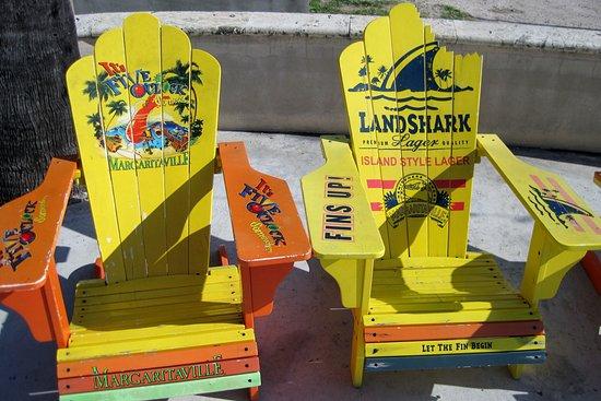 Jimmy Buffettu0027s Margaritaville: Adirondack Chairs By The Pool.