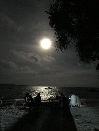 Lovely Full moon at the beach
