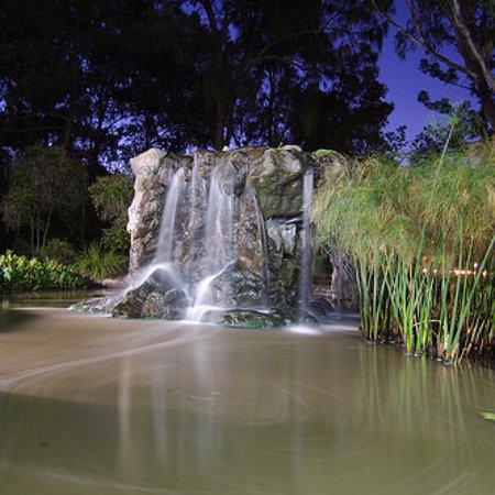 Beautiful tranquil waterfall at Thomas Jack Park Dalby