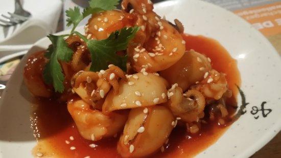 Beijingya: Entrée : Calamar en sauce