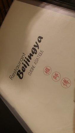 Beijingya: Carte sobre sans redondance des plats ( un bon signe )....