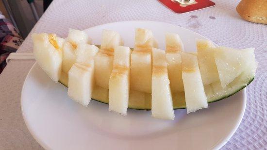Restaurante La Barca: Melón preparado