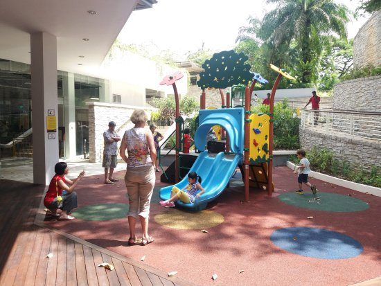 Outdoor play area for kids in Fusion Spoon at Botanic ...