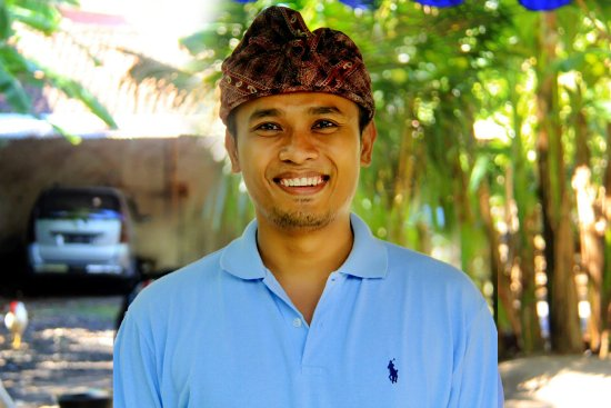 Candidasa, Indonesia: smile before work