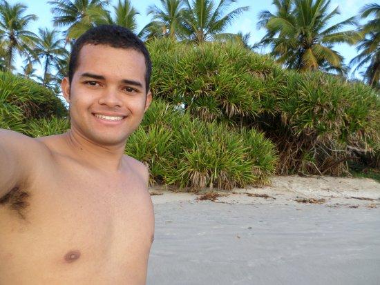 Eu na Praia da Ponta da Tulha