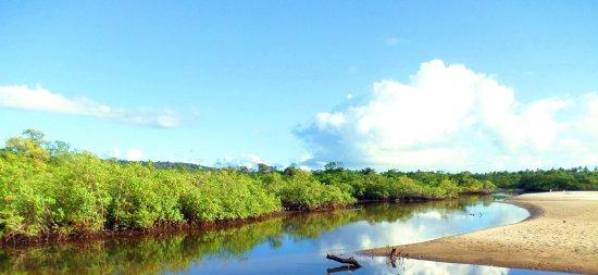 Rio próximo ao a praia da ponta da Tulha