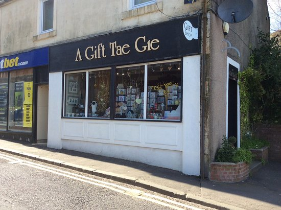 West Kilbride, UK: A Gift Tae Gie has presents for all occasions, and stock major companies, eg Arran, Yankee