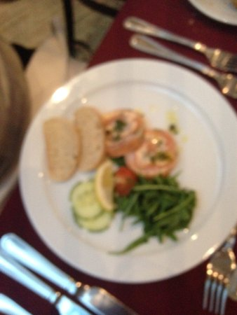 Christmas Dinner Starter Salmon Picture Of Stanton House Hotel