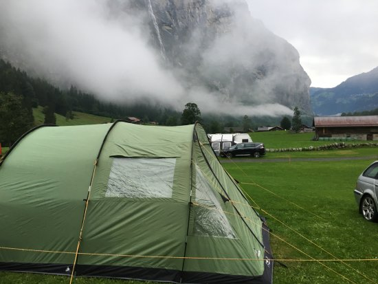Stechelberg, Switzerland: Pitch location.