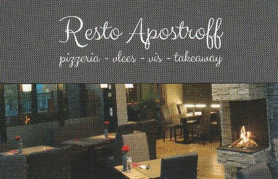 Koksijde Bad, Бельгия: (kaartje Resto Apostroff)