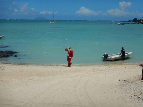 Seaview Calodyne Lifestyle Resort: Noël, arrivée du père Noël