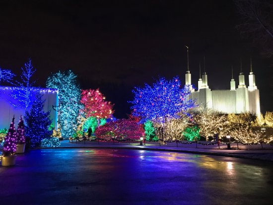 Kensington, Мэриленд: Lights at the temple