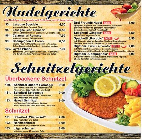 Dillenburg, Germany: Speisekarte