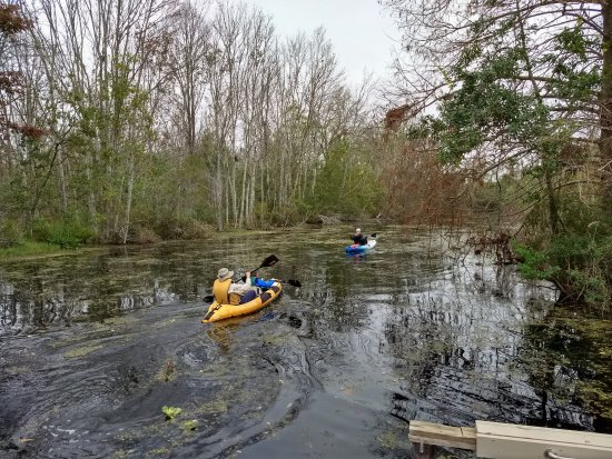 Fruitland Park, FL: Kayaking in the canal.
