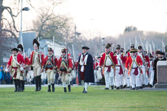 Lexington's Battle Reenactment footsteps from The Inn on Patriots Day