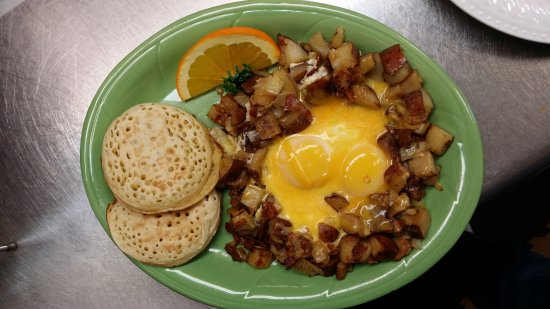 Stayton, Oregón: Simple skillet with crumpets