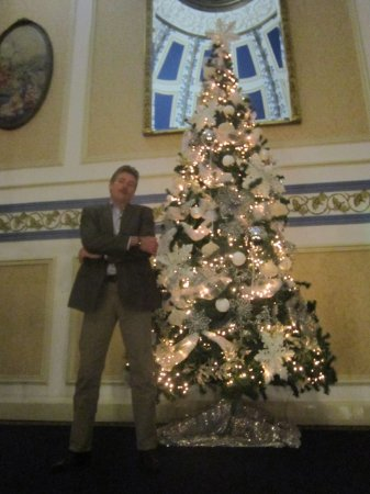 Shrigley Hall Hotel & Spa: One of the Christmas trees. 