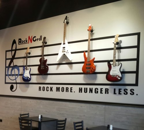 Lake in the Hills, IL: Rock N Grill inside 2