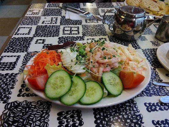 Egg and prawn salad, gorgeous