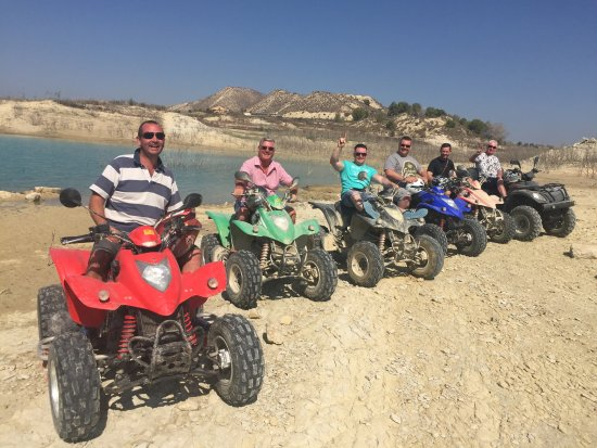 Orihuela, Ισπανία: Quad biking   The boys are back in town!