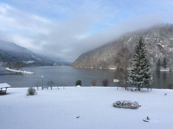 Schlogen, Austria: Blick zur Donau