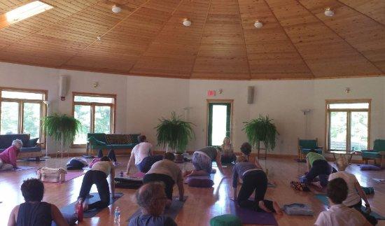 Willard, WI: First Yoga retreat summer 2016. Main workshop room.