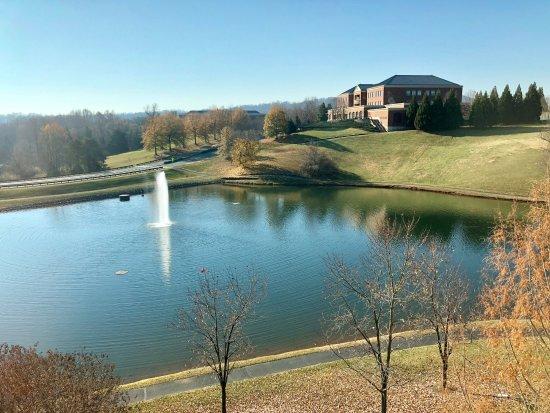 Hilton Garden Inn Charlottesville : 4th floor West view over pond.