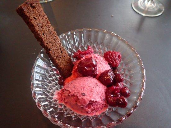 Hosteria El Pilar: wild berry ice cream