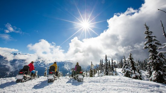 Whistler, Canada: Winter Snowmobiling.