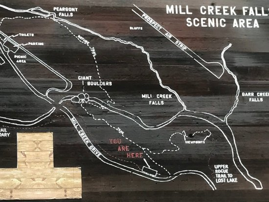 Prospect, Oregón: trail map