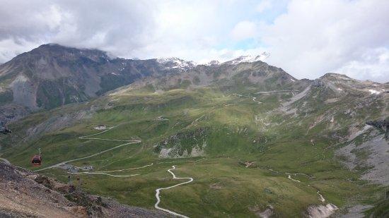 Bergbahn Schareck von Heiligenblut: Top-View of Groß-Glockner Road