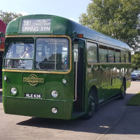 Chipping Ongar, UK: One of the Heritage Buses
