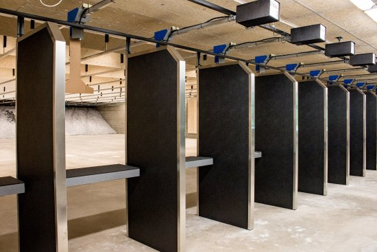 Oak Harbor, WA: Our individual firing positions feature bullet proof stall panels for superior protection.