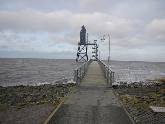 Dorum, Germany: road to lighthouse