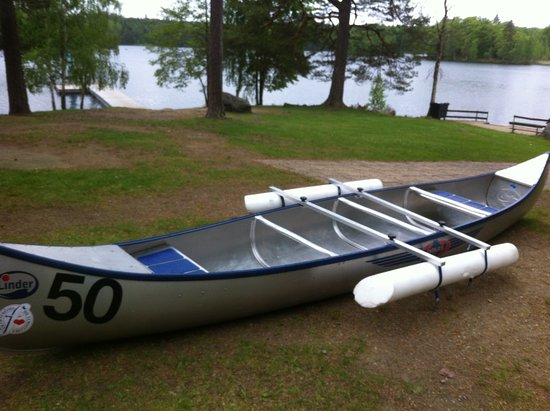 Olofstrom, Schweden: Kanot utrustad med pontoner