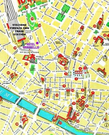 Annabella Hotel: Map
