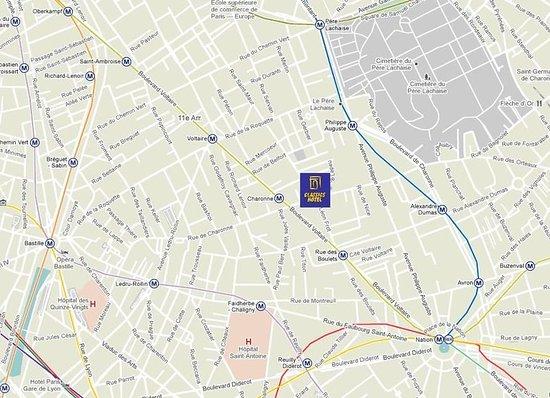 Map classics hotel bastille tripadvisor for Blc design hotel tripadvisor