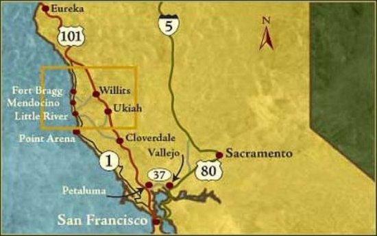 Little River, Калифорния: Map