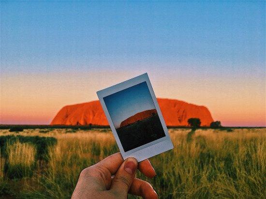 Uluru-Kata Tjuta National Park, Australia: Uluru Polaroid
