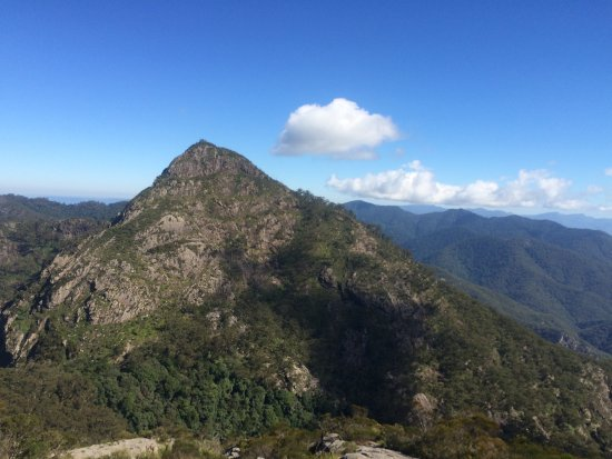 "Rathdowney, Australia: View of the West Summit looking from the East Summit. ""Rum Jungle"" in the lower part of the phot"