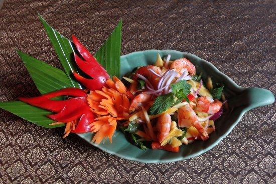Le Café Thaï : Salade de Mangue et Crevettes
