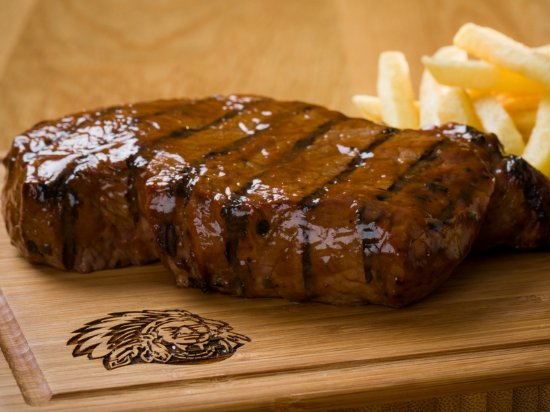 Benoni, South Africa: Steak and chips