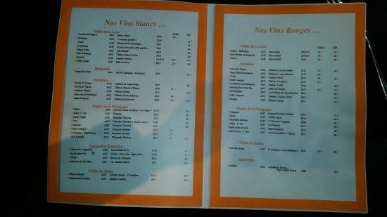 Koté Pêche : Wine List