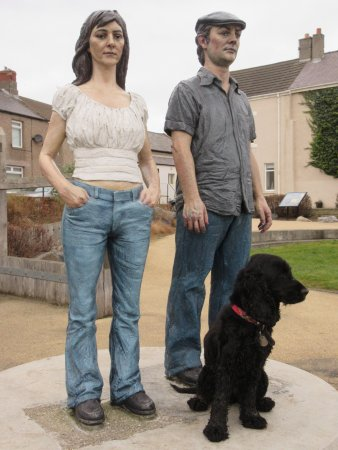 Newbiggin-by-the-sea. Land couple + Kerrie (our dog)