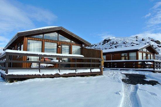 บอร์การ์เนส, ไอซ์แลนด์: Our Summerhouses during Wintertime