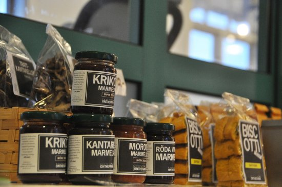 Katrineholm, Sweden: Products from the region for sale.