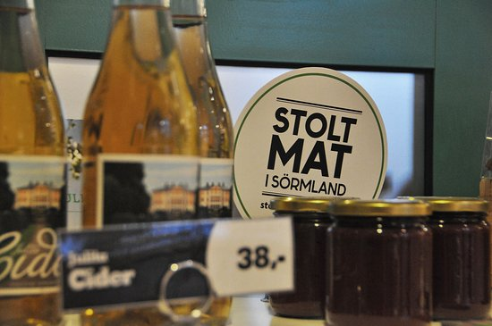 Katrineholm, Sweden: Produts from the region for sale.