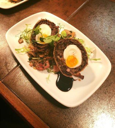 Guisborough, UK: Homemade Black Pudding Scotch Egg