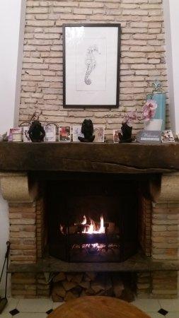 Taussat, França: Près du feu dans la cheminée... :)