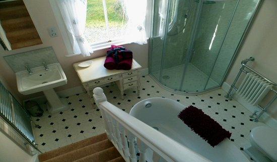 Auchencairn, UK: Room 1 - ensuite bathroom